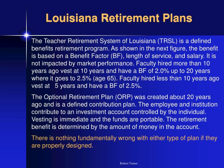 Louisiana retirement plans