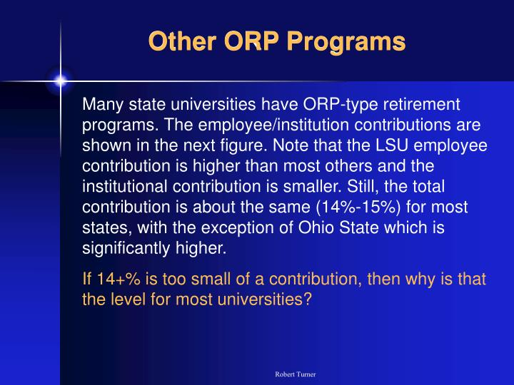 Other ORP Programs