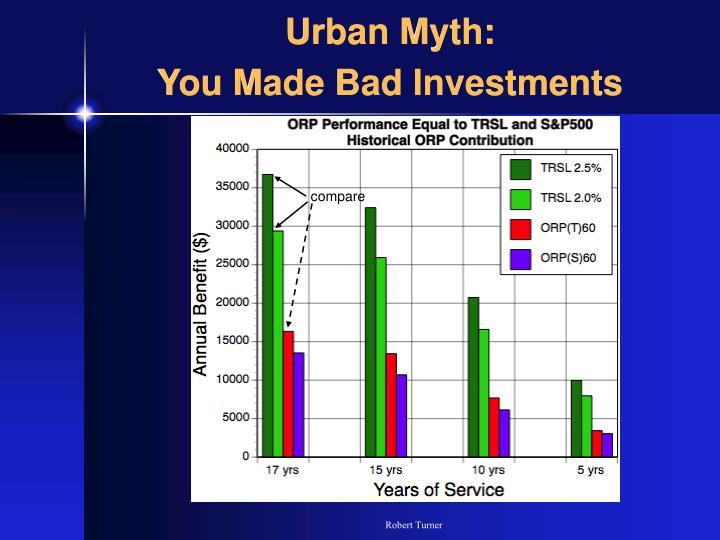 Urban Myth: