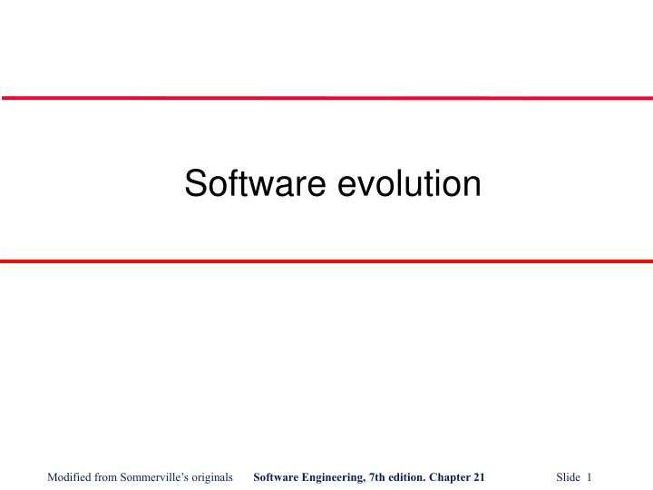 software evolution n.