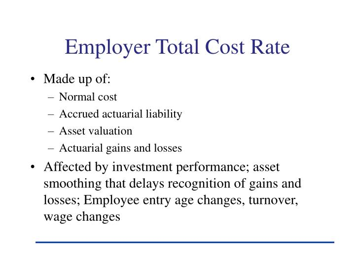 Employer Total Cost Rate