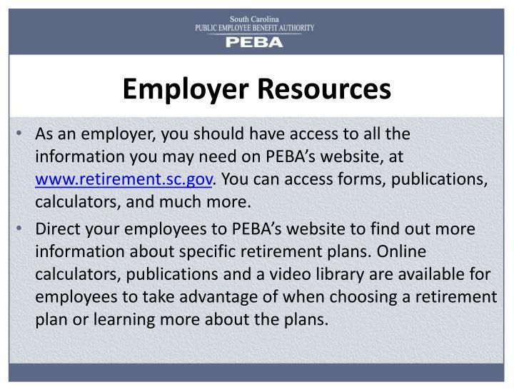 Employer resources