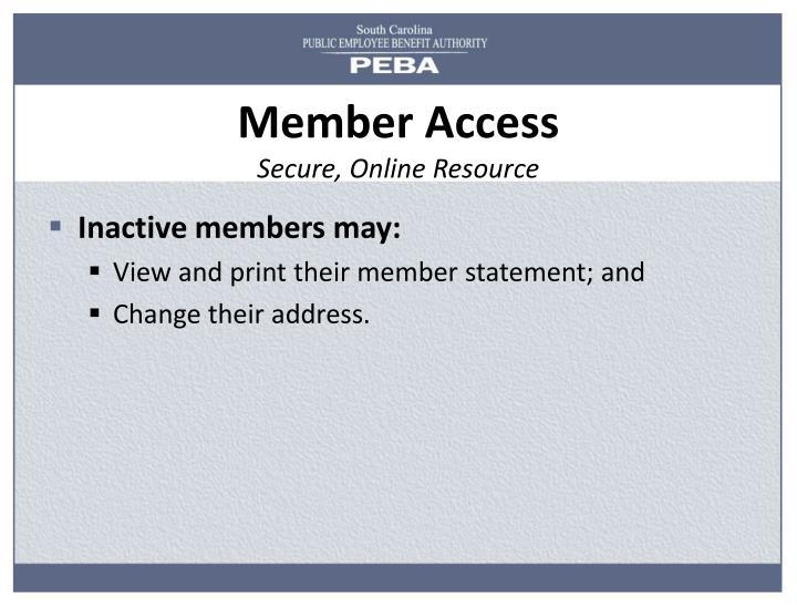 Member Access