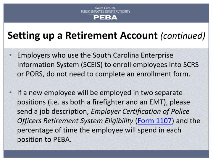 Setting up a Retirement Account