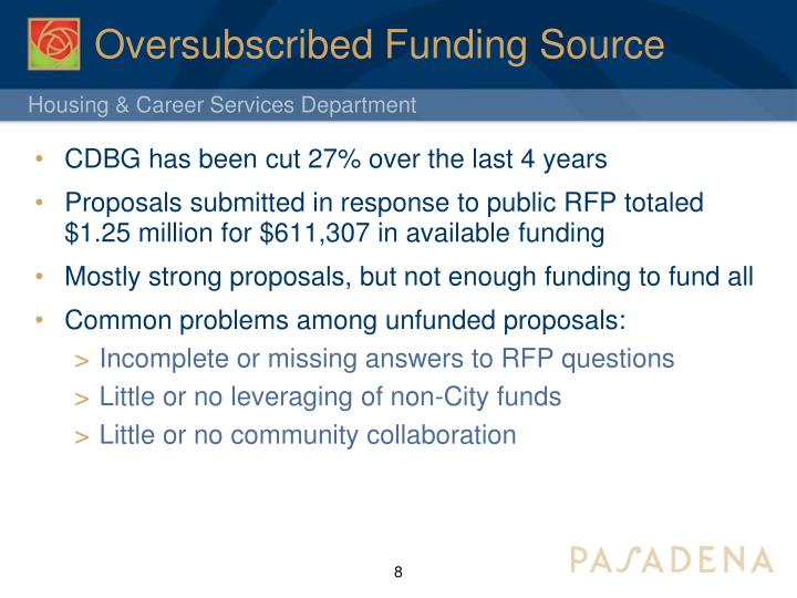Oversubscribed Funding Source