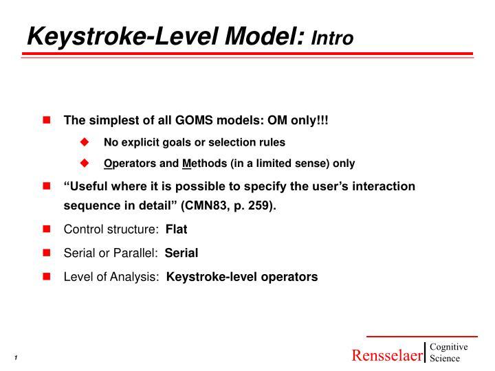 keystroke level model intro n.