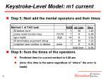 keystroke level model m1 current3
