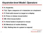 keystroke level model operators