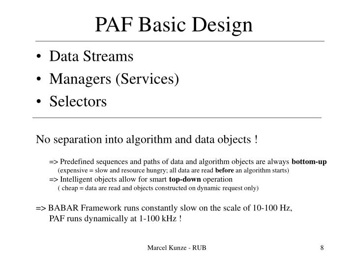 PAF Basic Design