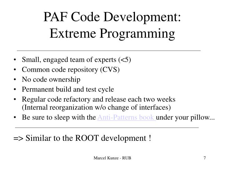 PAF Code Development: