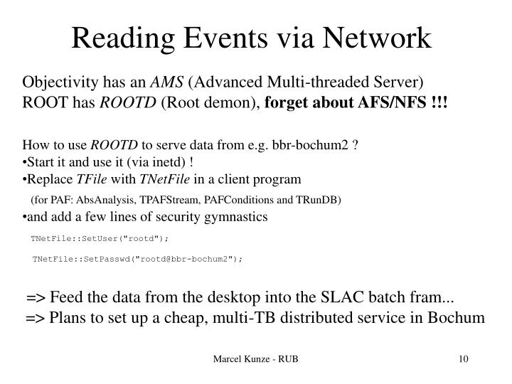 Reading Events via Network