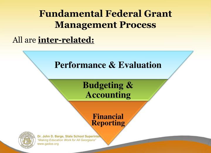 Fundamental federal grant management process