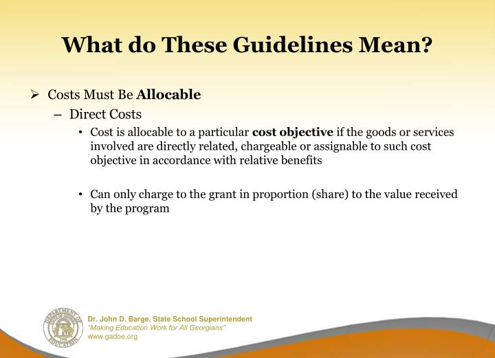 What do These Guidelines Mean?