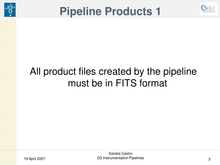 Pipeline products 1