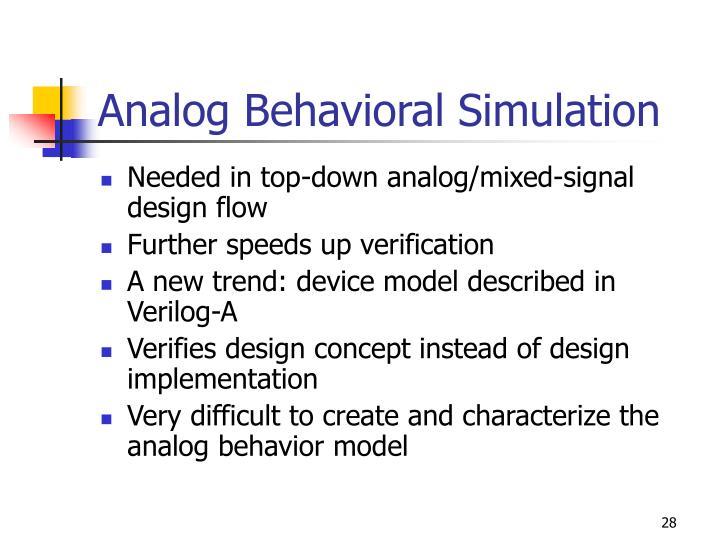 Analog Behavioral Simulation