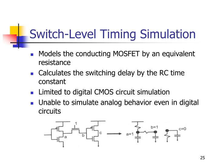 Switch-Level Timing Simulation
