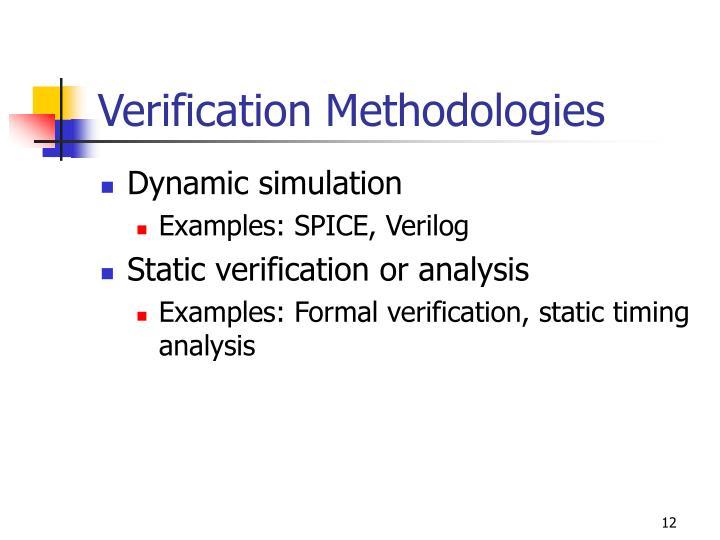 Verification Methodologies