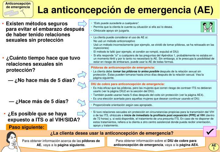 La anticoncepci n de emergencia ae