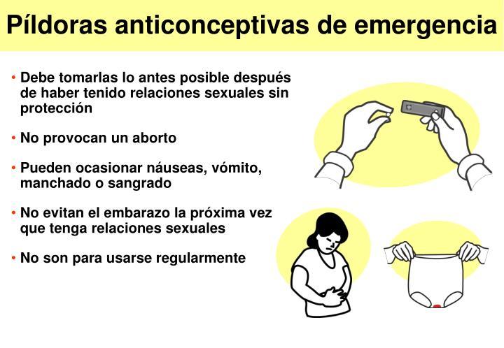 P ldoras anticonceptivas de emergencia