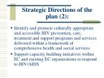 strategic directions of the plan 2