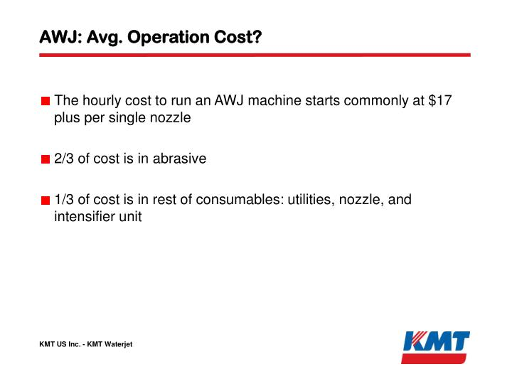 AWJ: Avg. Operation Cost?
