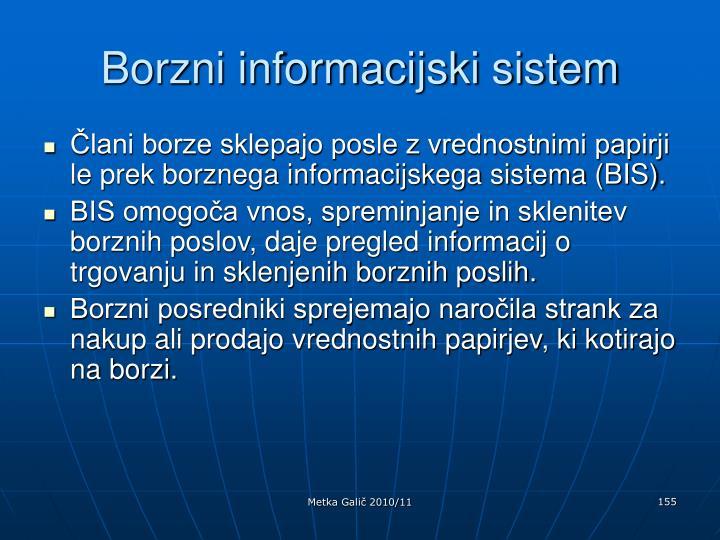 Borzni informacijski sistem