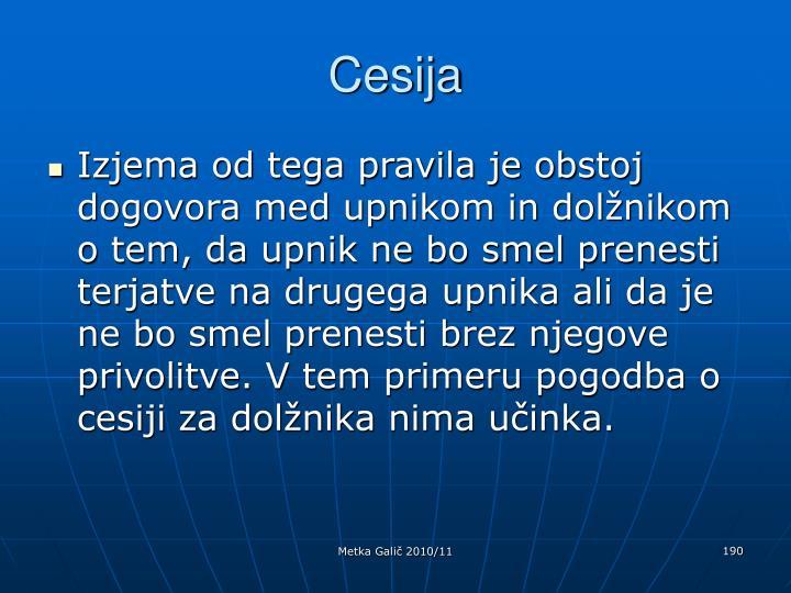Cesija