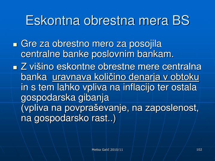 Eskontna obrestna mera BS