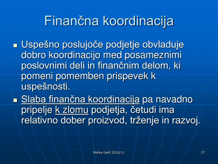 Finančna koordinacija