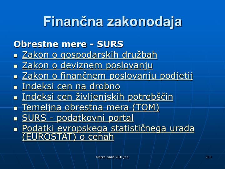 Finančna zakonodaja