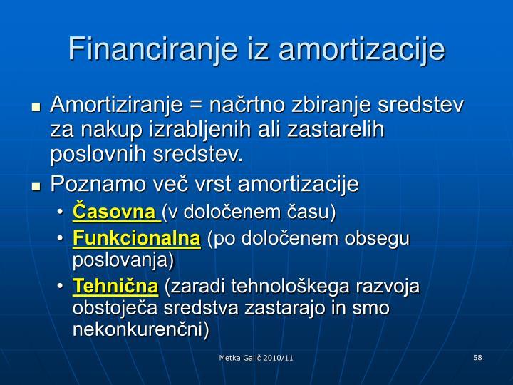 Financiranje iz amortizacije
