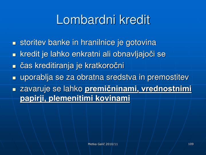 Lombardni kredit