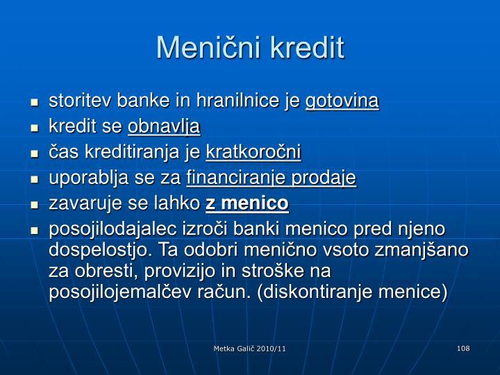 Menični kredit