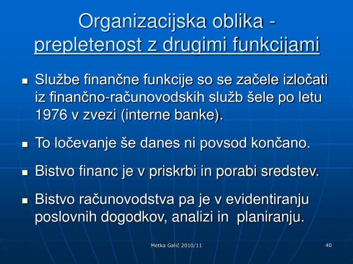 Organizacijska oblika -