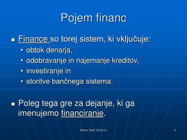 Pojem financ