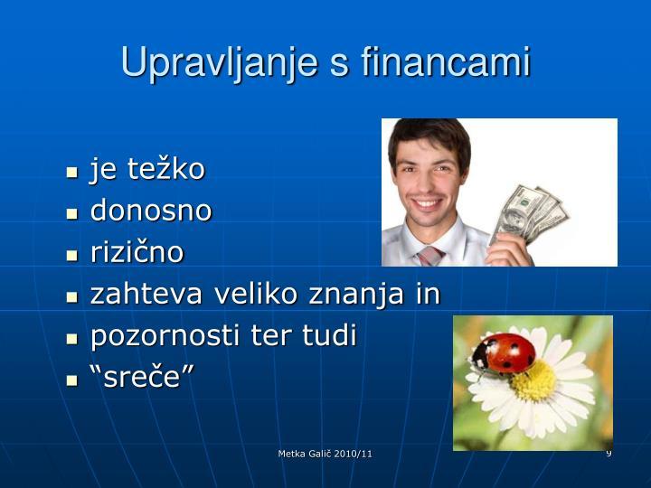 Upravljanje s financami
