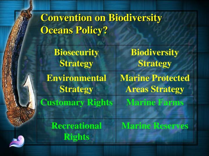 Convention on Biodiversity