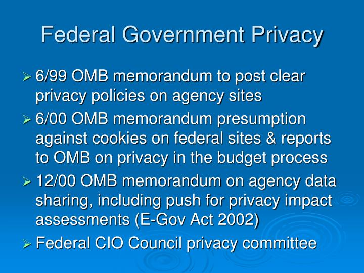 Federal Government Privacy