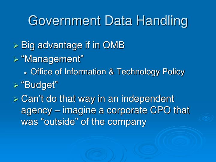 Government Data Handling