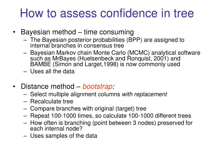 How to assess confidence in tree