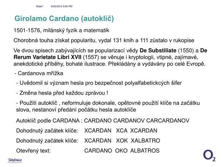 Girolamo Cardano (autoklíč)