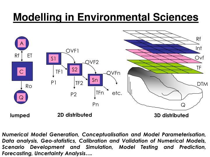 Modelling in environmental sciences1