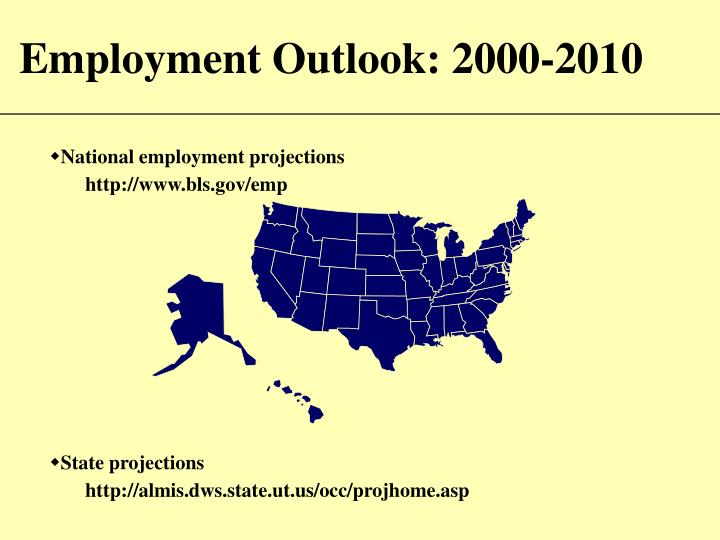 employment outlook 2000 2010 n.