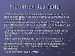 nutrition les faits