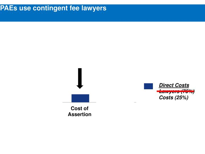 PAEs use contingent fee lawyers