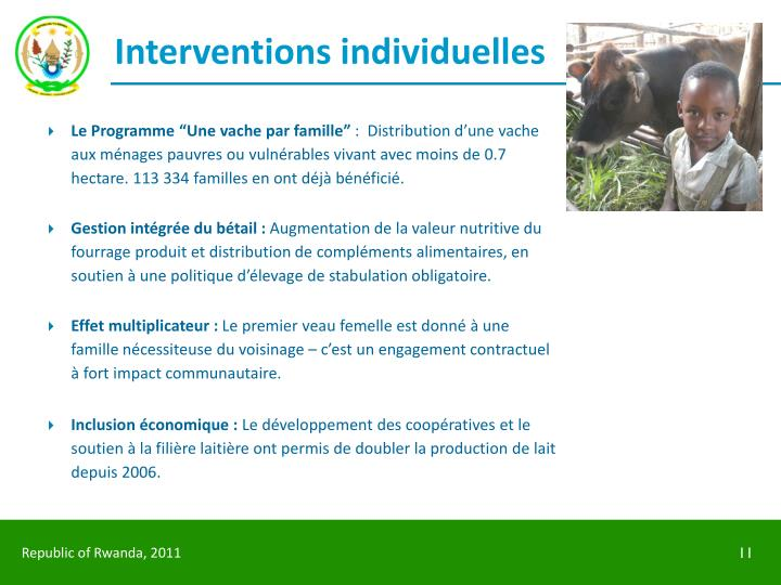 Interventions individuelles