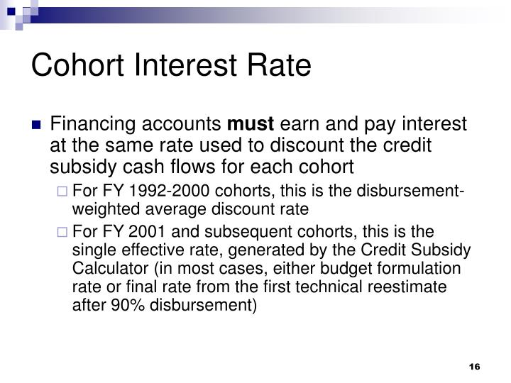 Cohort Interest Rate