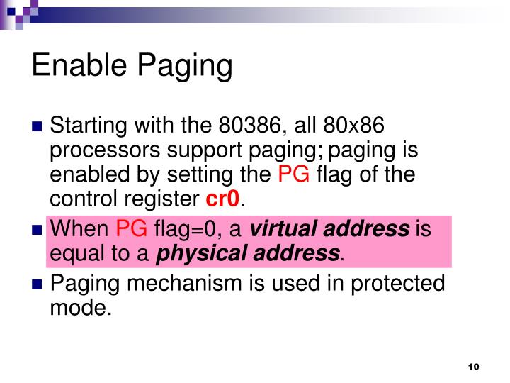 Enable Paging