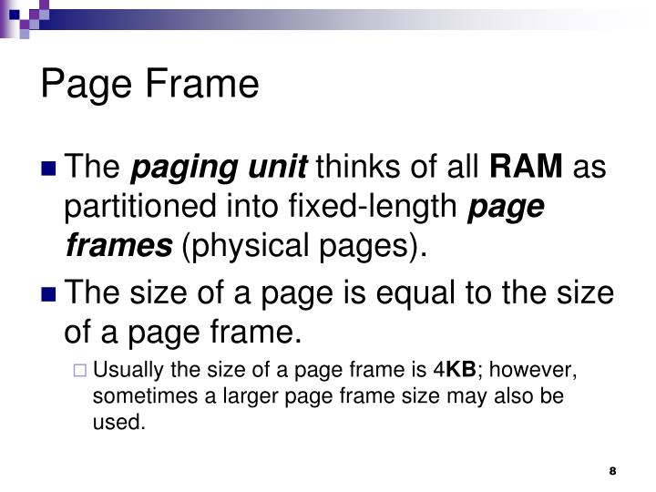 Page Frame