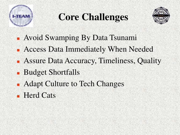 Core challenges